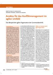Ansätze für das Konfliktmanagement im agilen Umfeld