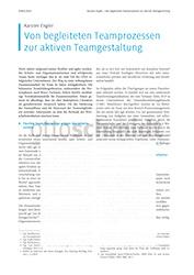 Ansätze der aktiven Teamformung